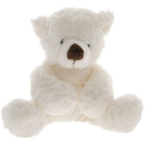 Мягкая игрушка Медведь белый лежачий 26 см Gulliver