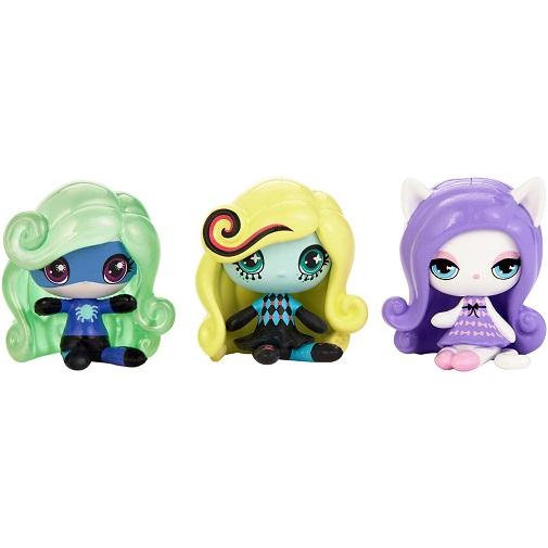Набор фигурок 3 шт Monster High (Твайла, Лагуна Блю, Катрин де Мяу) Mattel DVF46