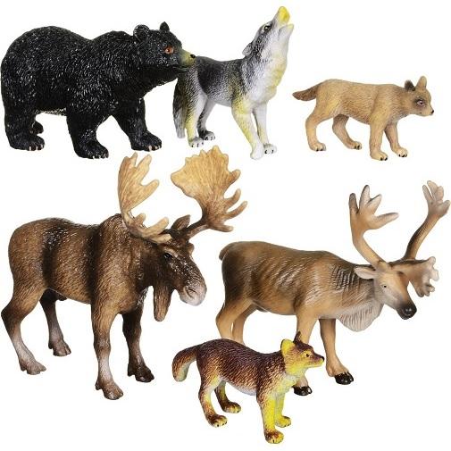 Набор фигурок Wenno Животные Северной Америки 6 шт