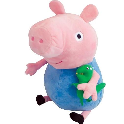 Peppa Pig Мягкая игрушка Джордж с динозавром 40 см