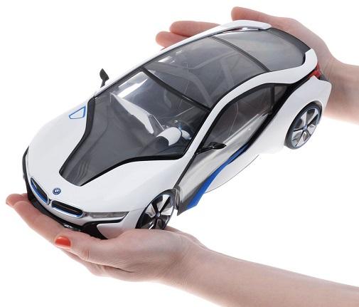 Rastar Радиоуправляемая модель BMW i8 (белый, серый) масштаб 114