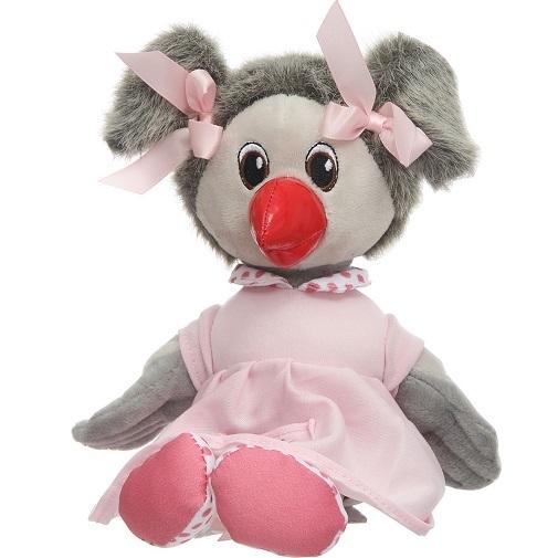 Спокойной ночи, малыши! Мягкая озвученная игрушка Каркуша в пижаме 23 см
