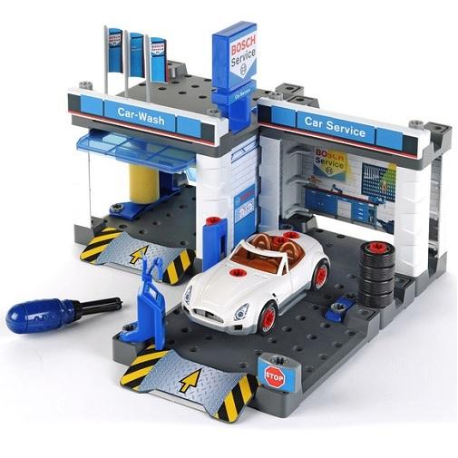 """Игровой набор Klein """"Автосервис Bosch с мойкой и машиной для сборки"""""""