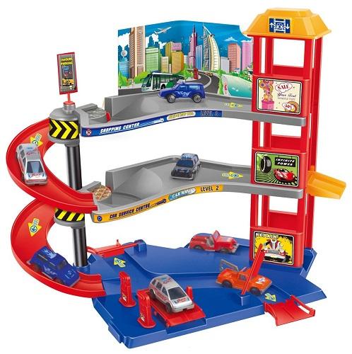 Игровой набор Парковочная башня для машинок Dave Toy 32029