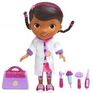 Кукла Disney Доктор Плюшева. Время осмотра, в белом халате с аксессуарами