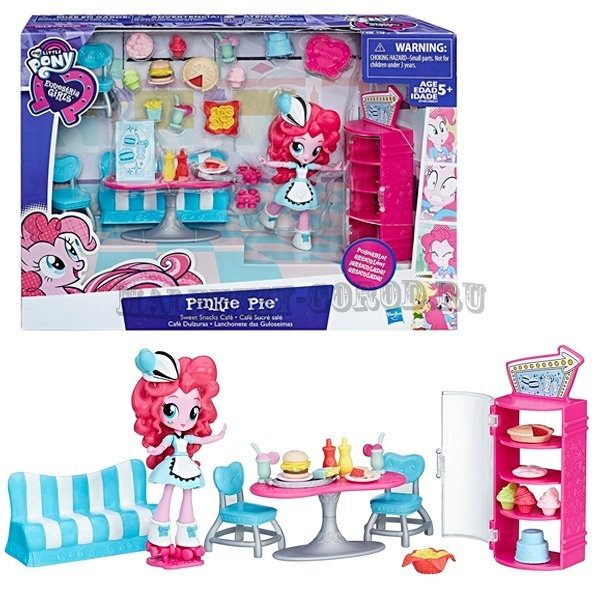 My Little Pony Equestria Girls Игровой набор с мини-куклой Pinkie Pie Sweet Snacks Cafe