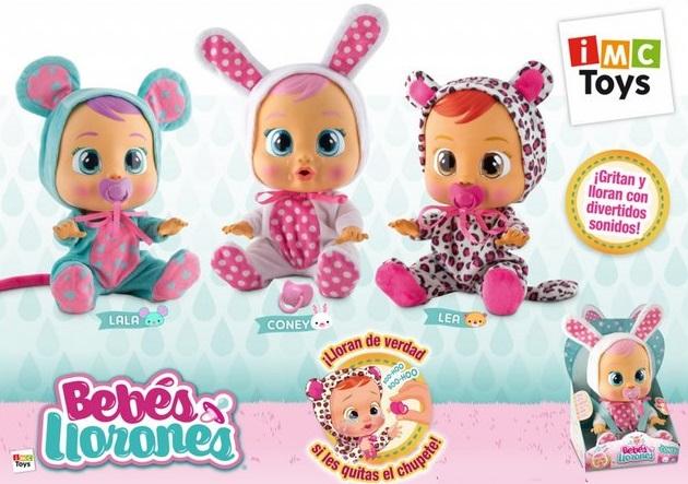 Кукла Плачующий младенец (Лея, Ляля, Кони) Cry Babies от IMC Toys