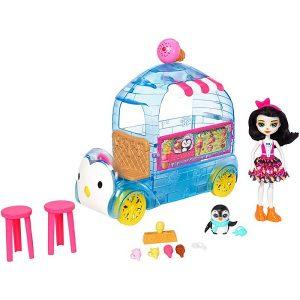 Набор Enchantimals с куклой Фургончик мороженого Прины Пингвины