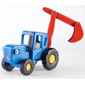 Игрушка Синий трактор Гоша с ковшом WoodenToys 1633T