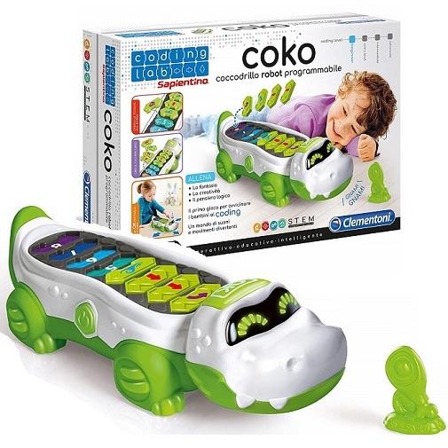 Интерактивный крокодил Coko программируемый Clementoni