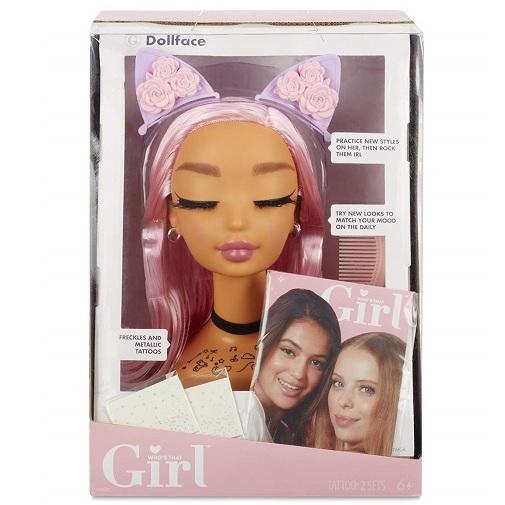 Модель головы для причесок и макияжа Dollface Who's That Girl MGA