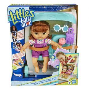 Кукла малышка с коляской Baby Alive Littles Hasbro