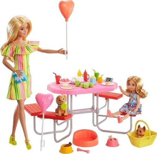 Игровой набор Пикник Барби и Челси с щенками Barbie