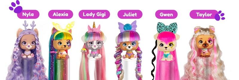 VIP Pets Питомец Собачка Сюрприз из волос (меняет цвет) IMC Toys