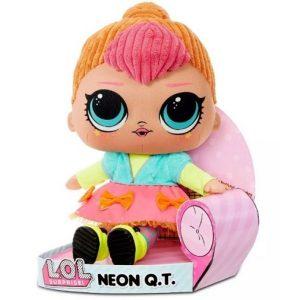 Мягкая плюшевая кукла Неоновая ЛОЛ Huggable Plush Neon Q.T. LOL