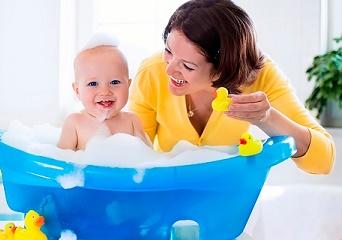 Купание и развитие ребенка в ванне (игрушки и стишки)