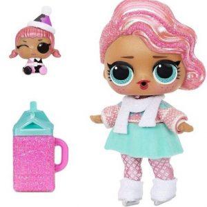 Куколка в зимней одежде ЛОЛ с эльфом Surprise Holiday Present Surprise LOL MGA