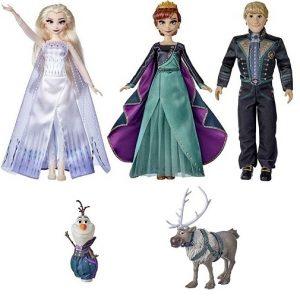 Набор из 5 кукол Холодное сердце-2 в новых нарядах: Анна, Эльза, Кристоф, Олаф и Свен