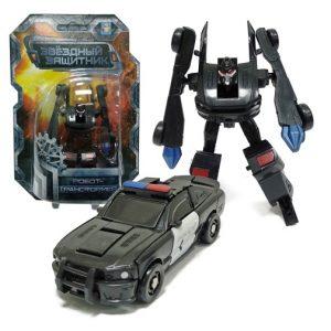 Робот-трансформер Звёздный защитник - Полицейский автомобиль 9 см 1Toy