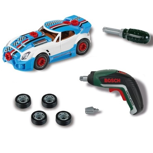 Klein Набор тюнинг-ателье Bosch с машиной и шуруповертом