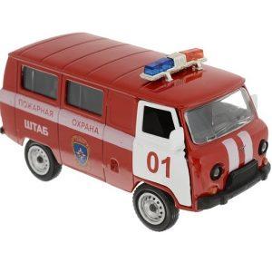 Модель автомобиля UAZ 39625 Пожарная охрана Autotime