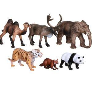 Набор фигурок Животные Азии 6 шт Wenno