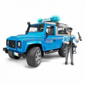 Bruder Внедорожник Land Rover Defender Station Wagon Полицейский с фигуркой