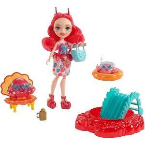Игровой набор с куклой Камео Крабби и с двумя фигурками Cameo Crab Enchantimals