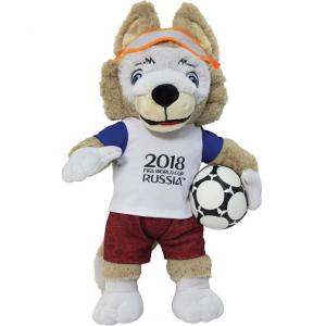 Мягкая игрушка Волк Забивака 40 см FIFA-2018
