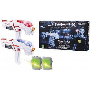 Набор Laser X с 2 бластерами для лазертага Mattel