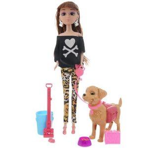 Игровой набор с куклой Pet Show Veld-Co (цвет одежды черный леопардовый)
