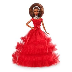 Кукла Барби Аша Темнокожая юбилейная Asha 2018 Barbie Holiday Barbie Mattel FRN70