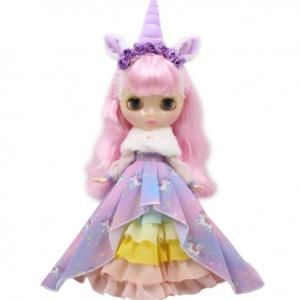 Кукла Единорог Блайз с радужными волосами Blythe Doll Unicorn