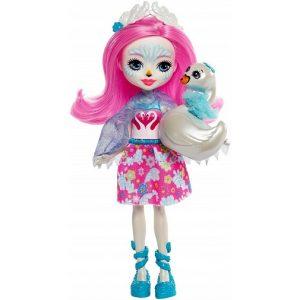 Набор Enchantimals Лебедь Саффи кукла со зверюшкой FNH22_FRH38