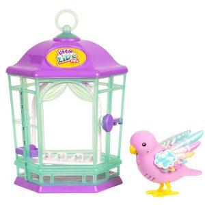 Little Live Pets Птичка с клеткой со светящимися крылышками Радужный свет