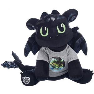 Мягкая игрушка Дракон Беззубик с биолюминесцентным мехом Как приручить дракона Build-A-Bear