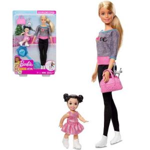 Кукла Барби тренер по фигурному катанию и ученица Barbie FXP37 Mattel