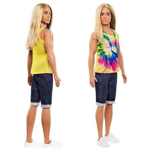 Кукла Кен с длинными волосами Ken Fashionistas Barbie Mattel