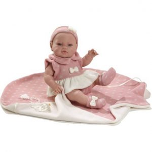 Munecas Berbesa Кукла Пупс новорожденный 42 см 5109