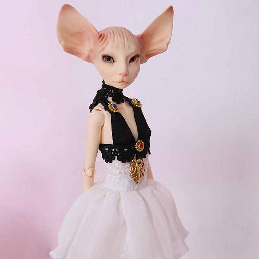Кукла-кошка Сфинкс в платье BJD Sphinx Cat