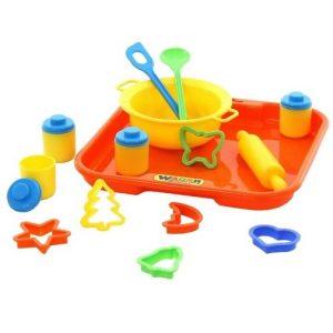 Набор игрушечной посуды для выпечки №1 с подносом Полесье