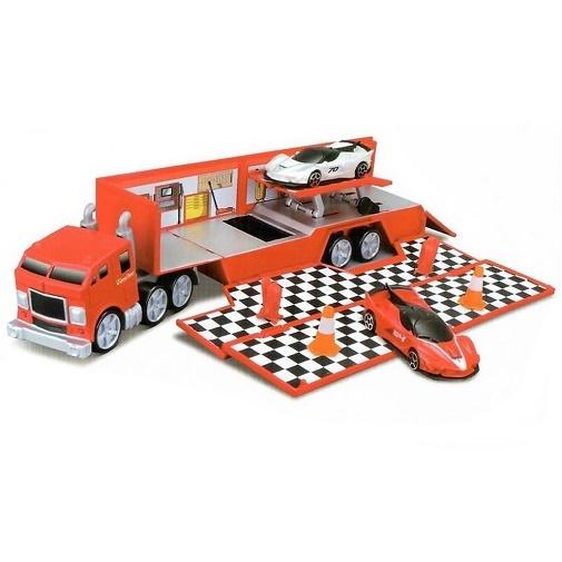 18-56667 Машинка Bburago Трейлер Транспортировщик 1:43 Ferrari R&P Evolution Hauler