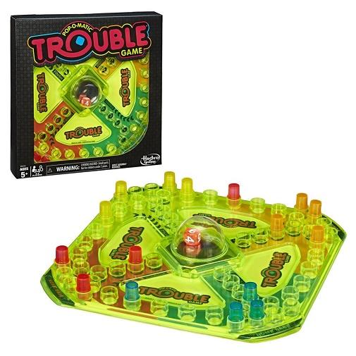 Настольная неоновая игра Trouble Neon Pop от Hasbro