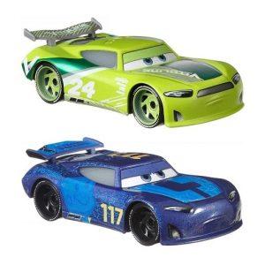 Набор Cars из 2 базовых машинок Тачки: Чейс Рейслотт и Спайки Файлапс GLR95