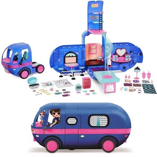 Синий Кемпер ЛОЛ OMG Автобус для кукол Glamper Fashion LOL