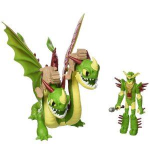Фигурка дракона и викинга Барс и Вепрь и воин Забияка Как приручить дракона