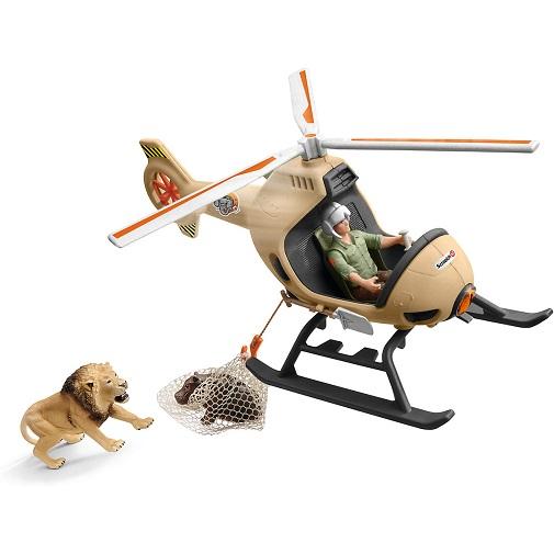 Игровой набор Вертолет-спасатель для диких животных Schleich 42476