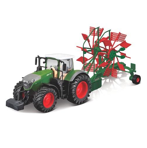 Трактор Bburago 1:32 Fendt 1050 Vario with Whirl Rake 18-31665