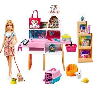 Набор Барби Зоомагазин с куклой и фигурками животных Barbie GRG90