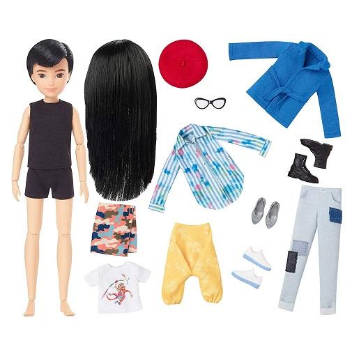 Набор Creatable World №2 с куклой Темные прямые волосы Меняем образы